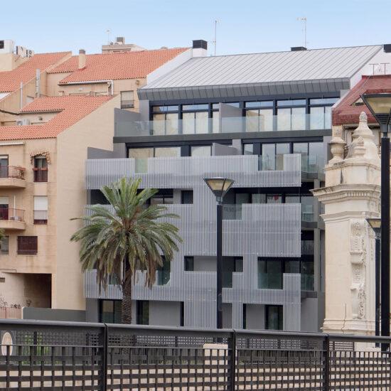 fachada moderna edificio