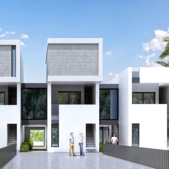 FUSTER - Render viviendas unifamiliares Zen Life Aqua