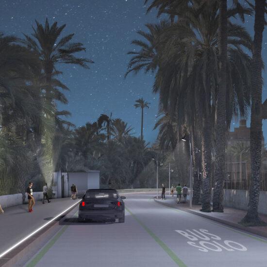 FUSTER - Render del proyecto de urbanización de la calle nuestra señora de la cabeza en Elche