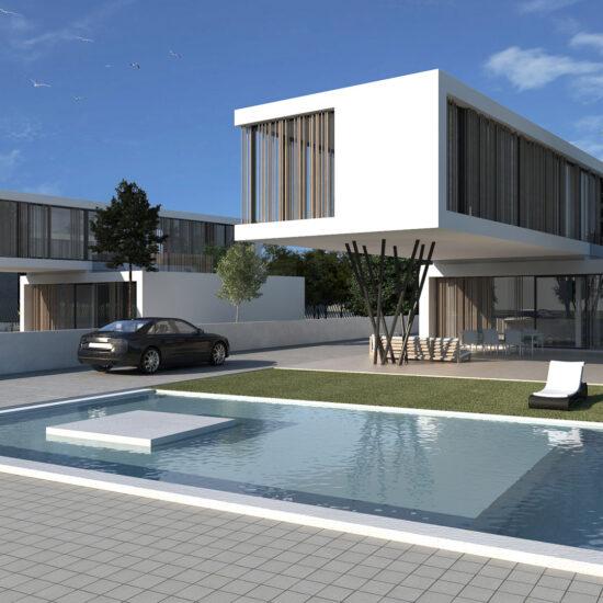 viviendas unifamiliares con piscina y jardin